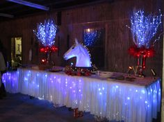 """Equine tablescape original design: Hayne Hall Plantation's """"Hunt weekend"""" horderve table for the fox hunt evening social.Fire and Ice. Designed by Georgiana of Universal Fine Art Conservation."""