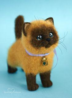 OOAK felted kitty 15cm by Natalya Kravtsova