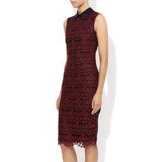 Brennon Dress Burgundy | Erdem