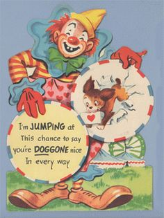 Vintage Valentine Museum: Clowning for You! Clown Valentines