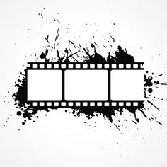 Film roll with ink stains Free Vector Camera Film Tattoo, Ticket Cinema, Camera Painting, Binder Cover Templates, Film Logo, Tattoo Zeichnungen, Overlays Picsart, Film Strip, Creative Logo