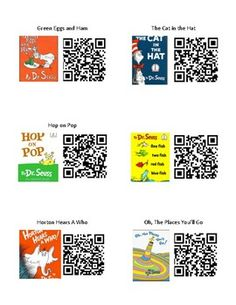 Dr. Seuss QR Codes Read Aloud Listening Center
