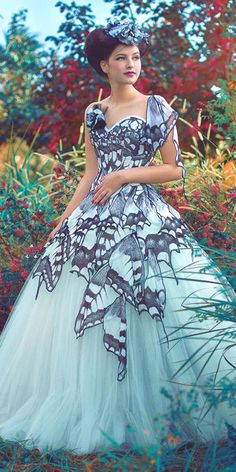 wonderful feather wedding gowns 6