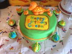 Dinosaur theme Cake and Cupcakes