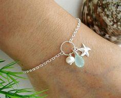 3 charm bracelet with silver ring Anklet Jewelry, Beach Jewelry, Ankle Bracelets, Beaded Bracelets, Bracelets En Argent Sterling, Starfish Bracelet, Mother Jewelry, Tattoo Bracelet, Simple Jewelry