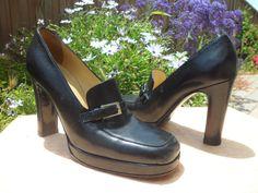 Dolce & Gabanna Platform Loafer Oxford Heels Pumps Buckle Stiletto 39 8.5 8
