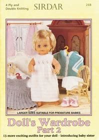 Cool sirdar knitting patterns for dolls clothes dolls wardrobe part pattern book. sirdar sirdar 272 ZJMKZHC - Crochet and Knit Sirdar Knitting Patterns, Knitting Wool, Double Knitting, Vintage Knitting, Crochet Patterns, Preemie Babies, Premature Baby, Baby Doll Clothes, Baby Dolls