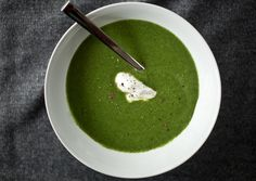 This looks very good and very easy.  perfect for those evenings when dinner has to come together quickly. Broccoli-Spinach Soup with Leeks