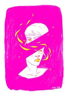 Illustration Milki tea #illustration #risograph in Illustration
