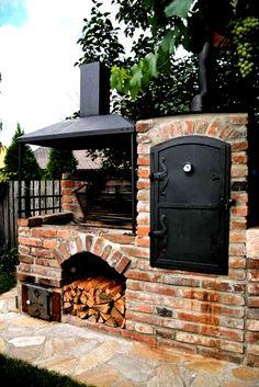 Backyard Barbeque, Backyard Patio, Outdoor Dining, Outdoor Decor, Backyard Pool Designs, Outdoor Kitchen Design, Kitchen Decor, Outdoor Kitchens, Kitchen Ideas