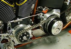5/6-speed Chain Drive System: [BOBBER SHOP DESIGN] Open Primary w/ Clutch