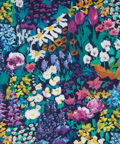 Liberty Art Fabrics Small Painter's Meadow Tana Lawn Cotton | Fabric | Liberty.co.uk