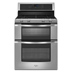 Whirlpool® 6.0 Total cu. ft. Double Oven Gas Range with AccuBake® system