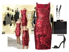 """""""Jaguar Jaquard"""" by rachelhughes-1 ❤ liked on Polyvore featuring Dsquared2, Shoe Cult, Chanel and Lulu Guinness"""