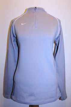 Nike Team Top L Gray DriFit 3/4 Zip Running Fitness Athletic Athleisure Pullover #Nike #PULLOVER