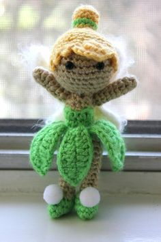 """PATTERN Tinkerbell from Peter Pan Disney Doll Crochet Amigurumi by susanna"" #Amigurumi  #crochet"