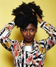 Natasha // Natural Hair Style Icon | Black Girl with Long Hair