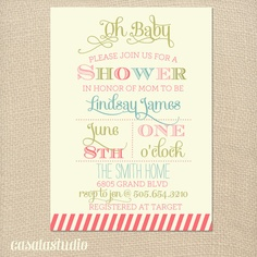 Spring Fling Bridal Shower Baby Shower Printable by casalastudio
