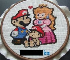 Papa Mario Cross Stitch pattern