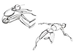 Skeletal Drawing Method. Find images of a number of figures in movement and draw them using only the skeletal drawing method. You don't need to draw any details; your aim is to improve your knowledge of the proportions of the body. Untitled-3
