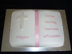 Confirmation Cakes For Girls | ... Allan: Wedding, engagement, christening and first holy communion cakes