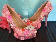 Hello Kitty Pink High Heel Shoes
