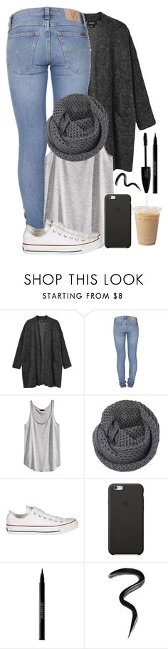 """""""#16"""" by oneandonlyfashion ❤ liked on Polyvore featuring Monki, Nudie Jeans Co., H&M, French Connection, Converse, Black Apple, Urban Decay and Laura Mercier"""