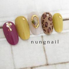 Pin on Nail ネイル Pin on Nail ネイル Love Nails, Pretty Nails, Yellow Nail Art, Leopard Print Nails, Exotic Nails, Minimalist Nails, Luxury Nails, Garra, Autumn Nails