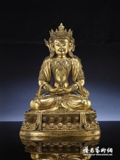 鎏金銅無量壽佛坐像