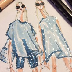 Embellished denim, by Jenny M Walton, Markers and Microns