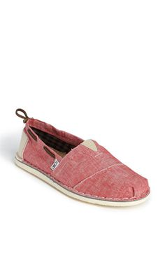 red chambray TOMS