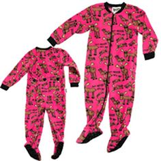"""Lazy One """"Don't Moose With Me"""" Kids Footie in Pink"""