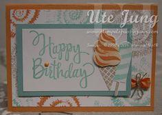 """Geburtstagskarte mit dem Stempelset """"Tie Dyed"""""""