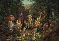 This one graces our entry hall. I can statre at it for hours.  James Christiansen - Once Upon A Time