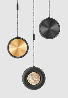 Speaker, metal, copper, brass, steel, brushed