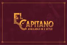El Capitano Typeface by Dega Syukurilah on @creativemarket