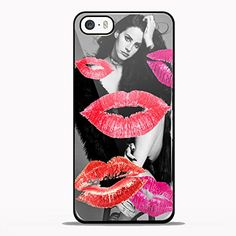 beauty lana del rey with lot of kiss for iPhone 5/5s Black case