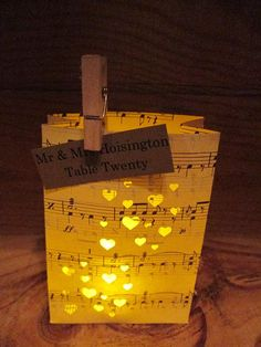 Luminary placecards or centerpieces