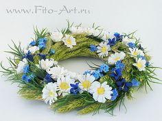 Цветы ручной работы - Летний венок