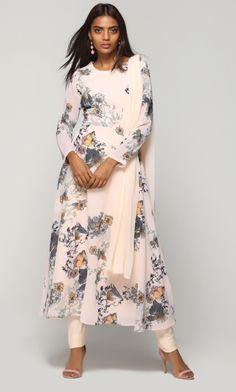 Peachy Flora Bias Suit Set
