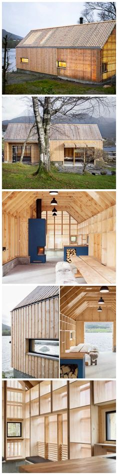 Oslo-based studios Koreo Arkitekter and Kolab Arkitekter joined forces to convert an old wooden boathouse into a stunning summer house that glows with warmth. Located in a small fishing village called Vikebygd, on Norway's west coast, 'Naust V' combines old pine slats with a new polycarbonate skin. Its translucent walls not only let natural light in, but also make the shelter magically glow when the sun goes down.