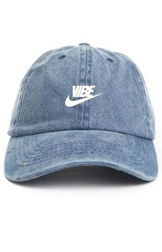 Just Vibe Swoosh Denim w  White Dad Hat at Amazon Men s Clothing store   White 164f7d7d9c81