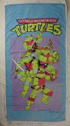 Vintage-1988-Teenage-Mutant-Ninja-Turtles-Beach-Towel-Eastman-Laird-Lavtane