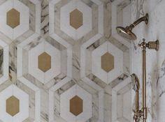 OMG a Hicks Hex patterned bath tile