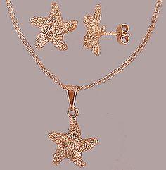 Conjunto folheado a ouro estrela do mar - Machinesex