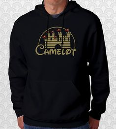 Camelot Merlin King Arthur Castle Hoodie by FishbiscuitDesigns