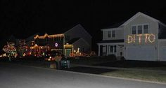 Christmas Lights - When you just cant compete with your neighbour! LOL!!!