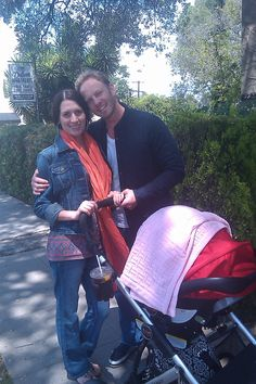 Ian Ziering and wife Erin with their Britax B-Ready Stroller Britax B Ready Stroller, Ian Ziering, Celebrities, Beverly Hills, Stars, Kids Wagon, Celebs, Sterne, Celebrity