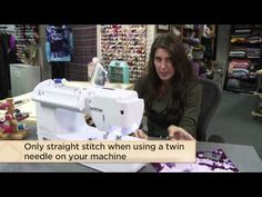 In this free lesson from Angela Wolf (instructor of the online @Craftsy class, Tailoring Ready to Wear), she shows you how to use a twin needle to mimic a cover-stitch hem with your own home machine and a twin-needle.