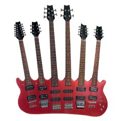 Found the six neck guitar. It has just about any configuration you would want. The only problem is that they all just have two humbucker pickups. Not much variation in sound there.